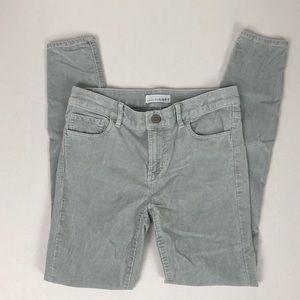 Loft Modern Skinny Gray Corduroy Pants Sz 0